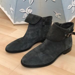Gray Vince Camuto suede leather ankle boots